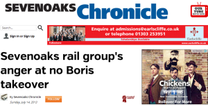 Sevenoaks rail group's anger at no Boris takeover - Sevenoaks Chronicle